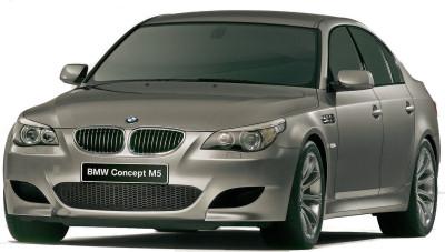 Présentation complète du concept-car BMW M5 Concept de 2004, qui a annoncé fidèlement la nouvelle génération 2005 de BMW M5, continuant une lignée de routières hautes performances de grand succès.